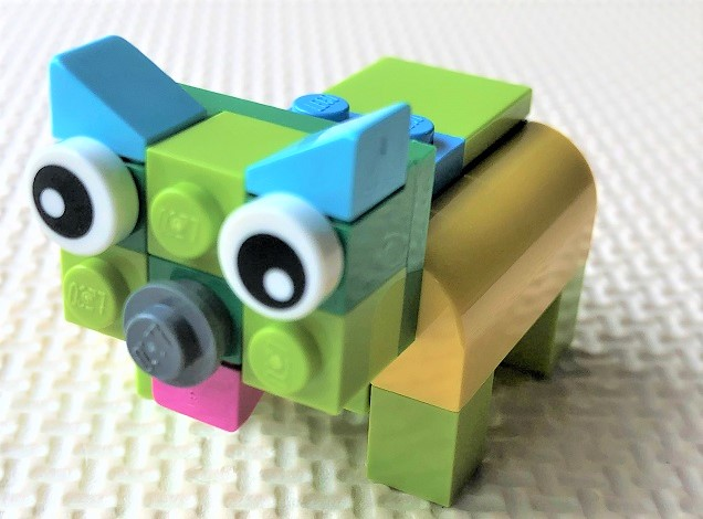 how to make a lego dog step by step