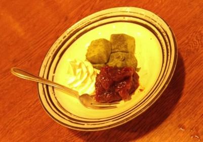 Matcha mochi desert