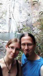 Us in front of Nunobiki Falls