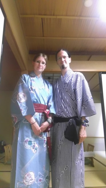 Us in traditional Japanese Yukata
