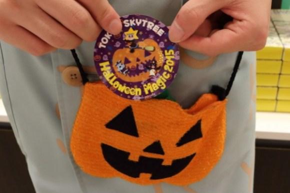 東京スカイツリーハロウィン限定ステッカーかぼちゃ