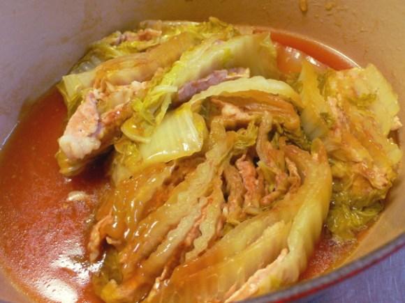 白菜と豚肉煮物ミルフィーユ2