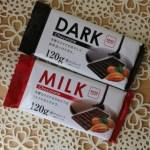 100均板チョコミルクとダークの比較チョコレートと準チョコレートと製菓用の違い