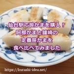 阿部蒲鉾店笹小舟と鐘崎プレーン笹かまぼこ
