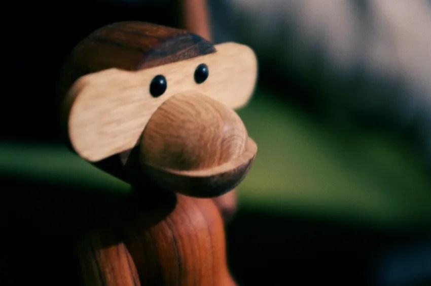 Kay Bojesen Wood Monkey