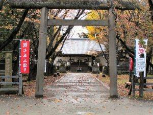 七五三のお参りの神社