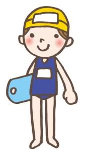 小学生の女の子のプール