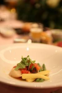 ヤングコーン、インゲン、トマトのサラダ