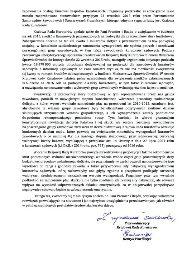 2015.09.28 Pismo do Pani Premier 54.IV.2015b