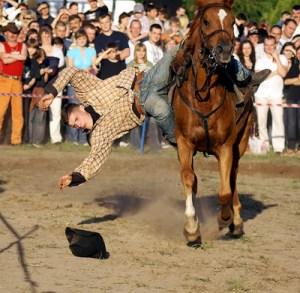 Pokazy kaskaderskie na koniach Fot. Sylwester Marchewka