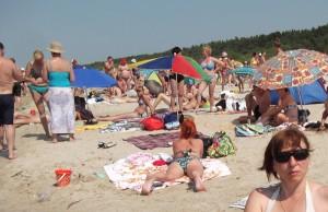 Plaża ciasna, ale piaszczysta i prawie południowa Fot. Lucja Stankevičiūtė