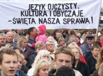 Nowa Ustawa o Oświacie spotkała się ze sprzeciwem i bezprecedensowymi protestami mniejszości narodowych Fot. Marian Paluszkiewicz