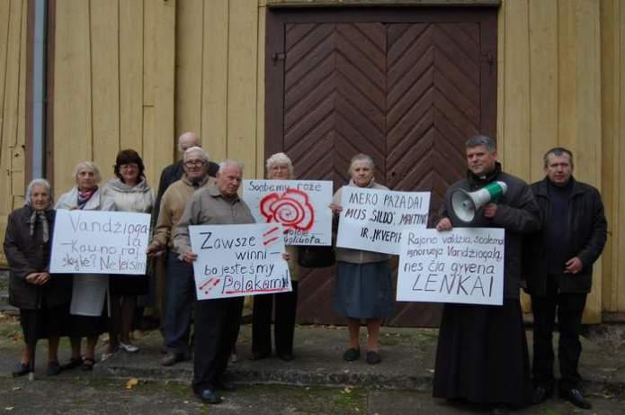 Polski protest na Kowieńszczyźnie