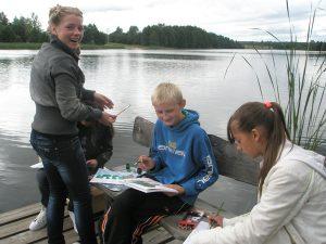 Plener malarski w rodzimej Wersoce  Fot. Justyna Janczuńska