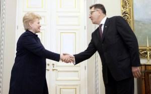 Prezydent Dalia Grybauskaitė powiedziała liderowi socjaldemokratów Algirdasowi Butkevičiusowi, że nie chce widzieć w przyszłym rządzie Partii Pracy Fot. ELTA