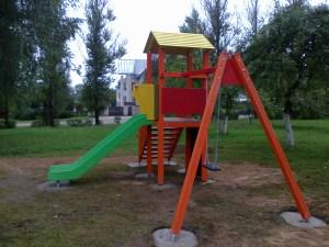 W Zujunach wybudowano placyk zabaw dla dzieci
