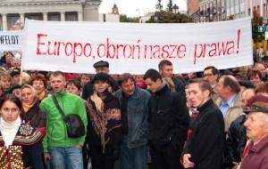 Mimo apeli o pomoc, to Europa nieskora jest wspierać litewskich Polaków w zapewnieniu im podstawowych praw do używania swego języka, również w pisowni ich nazwisk Fot. Marian Paluszkiewicz