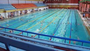 Długość lazdynajskiego basenu odpowiada światowym kryteriom sportowym ― wynosi 50 metrów Fot. Marian Paluszkiewicz