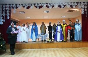 Program artystyczny rozpoczęli uczniowie Szkoły Średniej w Mickunach, którzy przedstawili jasełka