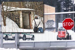 Cienie i blaski posowieckich obiektów — zagospodarowany przez wojsko niepodległej Litwy ośrodek szkoleniowy, a obok porzucony schron przeciwlotniczy Fot. Marian Paluszkiewicz