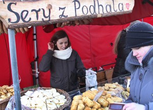 Oscypek podhalański nie po raz pierwszy na Kaziukach Fot. Marian Paluszkiewicz