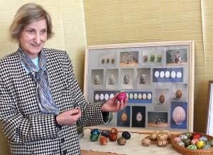 Laima Garbulytė prezentuje swe mini arcydzieła Fot. Marian Paluszkiewicz
