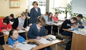 Objętość i pole ostrosłupa lub stożka z nauczycielką–metodyk od matematyki Anną Wankiewicz to pestka   Fot. Marian Paluszkiewicz