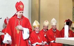 Nowo mianowany arcybiskup Gintaras Grušas Fot. Marian Paluszkiewicz