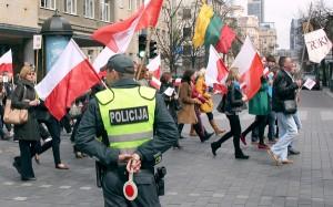 Marsz przeszedł spokojnie, bez żadnych incydentów Fot. Marian Paluszkiewicz