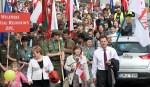 W pochodzie wziął udział też europoseł Waldemar Tomaszewski, przewodniczący Akcji Wyborczej Polaków na Litwie Fot. Marian Paluszkiewicz