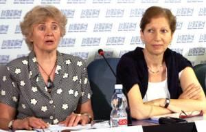 Ona Gustienė i Claire Quidet<br/>Fot. Marian Paluszkiewicz
