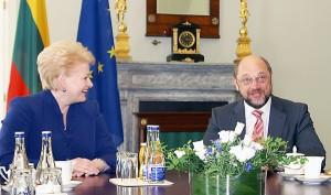 Dalia Grybauskaitė i Martin Schulz  Fot. Marian Paluszkiewicz