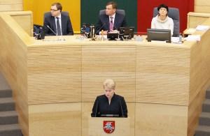 W swoim expose prezydent zarzuciła rządowi, że od zaprzysiężenia pod koniec ubiegłego roku niczego jeszcze nie zrobił Fot. Marian Paluszkiewicz