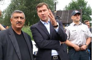 Artūras Zuokas chce zapobiec rozrastaniu się cygańskiego taboru w wileńskich Kirtimai Fot. Marian Paluszkiewicz