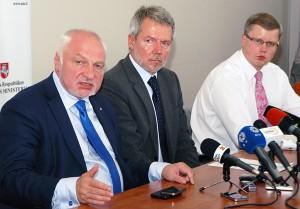 Minister Valentinas Mazuronis podczas konferencji zaznaczył, że zostaną poczynione wszelkie starania, żeby zapewnić jakość prac Fot. Marian Paluszkiewicz