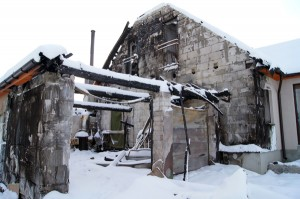 Tak wyglądał dom w styczniu 2013 roku Fot. Marian Paluszkiewicz
