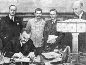 Pakt Ribbentrop-Mołotow został podpisany 23 sierpnia 1939 roku<br>Fot. archiwum