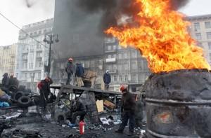 Sytuacja w ukraińskiej stolicy i państwie coraz bardziej jest dramatyczna Fot. Elta