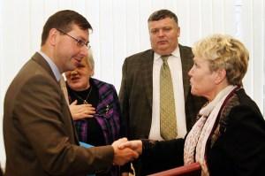 Były minister oświaty Gintaras Steponavičius, który był inicjatorem ograniczenia nauki w językach mniejszości narodowych, jako jeden z pierwszych był oburzony wobec planów Rosji Fot. Marian Paluszkiewicz