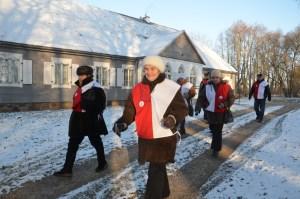 Uczestnicy pielgrzymki zwiedzili muzeum Powstania Styczniowego w Podbrzeziu kiejdańskim Fot. archiwum