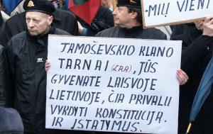 Polaków  na Litwie nie dziwią podobne akcje wymierzone w AWPL      Fot. Marian Paluszkiewicz