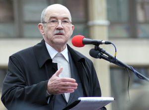 Jeden z sygnatariuszy listu wystosowanego do władz Litwy — Romualdas Ozolas               Fot. Marian Paluszkiewicz
