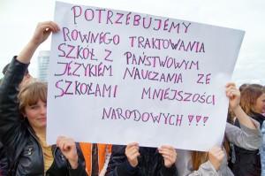 Żądania polskich uczniów i rodziców są notorycznie ignorowane Fot. Marian Paluszkiewicz
