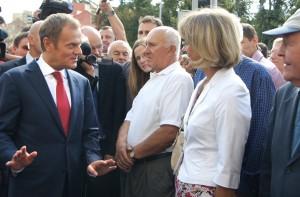 Premier Polski Donald Tusk nie podziela optymizmu litewskiego kolegi Algirdasa Butkevičiusa, że ich spotkanie samo przez się rozwiąże problemy litewskich Polaków Fot. Marian Paluszkiewicz