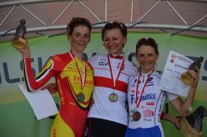 W ubiegłym roku Eugenia Bujak została mistrzynią Polski w wyścigu szosowym ze startu wspólnego Fot. archifum