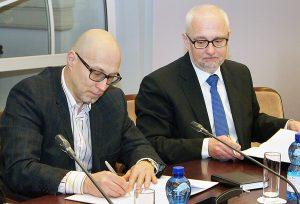Audrius Jurgelevičius i Dainius Pavalkis  Fot. Marian Paluszkiewicz