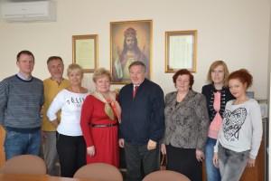 Delegację Gminy Kosakowo przywitała mer Samorządu Rejonu Wileńskiego Maria Rekść