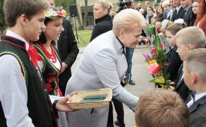 W bezprecedensowej uroczystości udział wzięła prezydent Dalia Grybauskaitė  Fot. Marian Paluszkiewicz