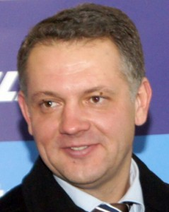Lider Ruchu Liberałów Eligijus Masiulis     Fot. Marian Paluszkiewicz