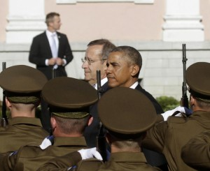 US President Barack Obama in Estonia to discuss security in Baltics